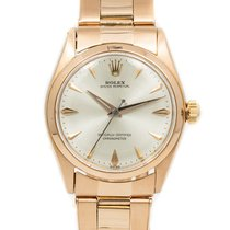 Rolex Rose gold Automatic Silver No numerals 31mm pre-owned Oyster Perpetual