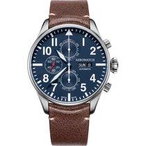 Aerowatch Les Grandes Classiques Steel 44mm Blue Arabic numerals
