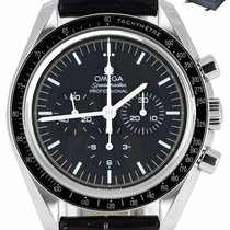 Omega Speedmaster Professional Moonwatch pre-owned 42mm Black Tachymeter Leather
