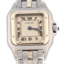 Cartier Santos (submodel) Gold/Steel 24mm White Roman numerals