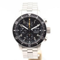 Fortis B-42 Official Cosmonauts pre-owned 44mm Black Chronograph Date Weekday Steel