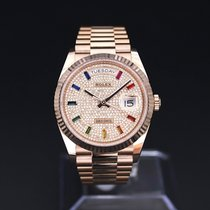 Rolex Day-Date 36 128235 Nové Růžové zlato 36mm Automatika Slovensko, Matúškovo