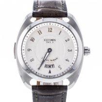 Hermès Dressage Steel 41mm White
