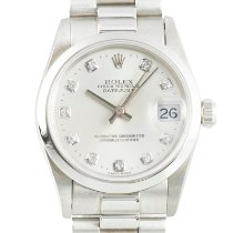 Rolex Platinum Automatic Silver 31mm pre-owned Datejust 31