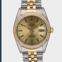 Rolex Datejust Złoto/Stal 36mm Złoty Bez cyfr