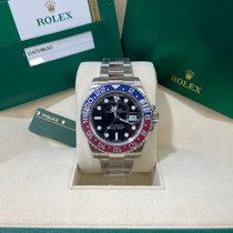 Rolex White gold Automatic Black No numerals 40mm new GMT-Master II