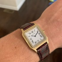 Cartier Yellow gold Manual winding White 27mm pre-owned Santos Dumont