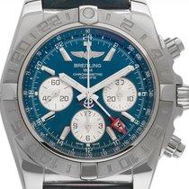 Breitling Chronomat 44 GMT Сталь 44mm Синий