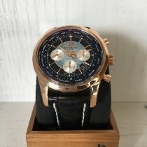 Breitling Transocean Chronograph Unitime Roségoud 46mm Zwart Geen cijfers Nederland, Middelharnis