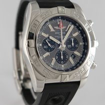 Breitling Chronomat GMT Сталь 44mm Cерый