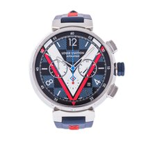 Louis Vuitton Steel 46mm Automatic QA076 pre-owned United States of America, Florida, Hallandale Beach