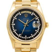 Rolex Day-Date 36 Geelgoud Blauw Nederland, Amsterdam