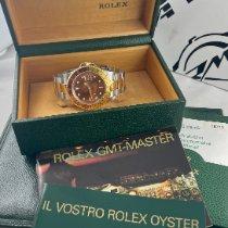 Rolex GMT-Master II Aur/Otel 40mm Maron Fara cifre