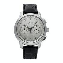 Glashütte Original Senator Chronograph XL Stahl 44mm Silber Keine Ziffern