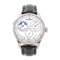 Jaeger-LeCoultre White gold Manual winding White No numerals 41mm Duomètre