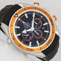 Omega Seamaster Planet Ocean Chronograph Çelik 45,5mm Siyah Arap rakamları