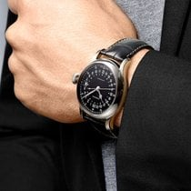 Longines Steel Automatic Black Arabic numerals 47.5mm pre-owned Twenty-Four Hours