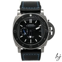 Panerai Titanium Automatic Black No numerals 47mm pre-owned Luminor subsible 1950 3 Days Automatic