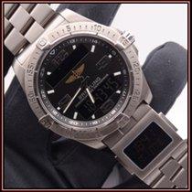 Breitling usados Cuarzo 42mm Negro Cristal de zafiro 10 ATM