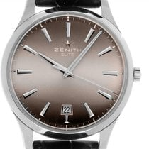Zenith Captain Central Second Steel 40mm Brown