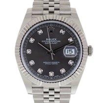 Rolex Datejust nuovo 2021 Automatico Orologio con scatola e documenti originali 126334 LC100