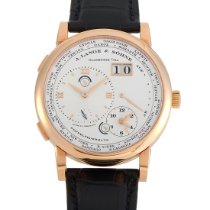 A. Lange & Söhne Rose gold Automatic Silver 41.9mm pre-owned Lange 1