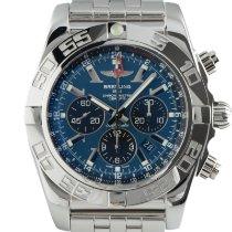 Breitling Chronomat GMT Сталь 47mm Синий