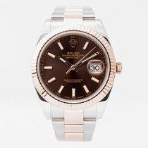 Rolex Datejust II Gold/Steel 41mm Brown No numerals United Kingdom, Guildford,Surrey