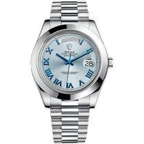 Rolex Palladium Automatic Blue Roman numerals 41mm new Day-Date II