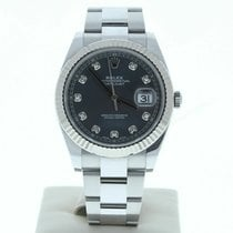 Rolex Silver Automatic 41mm pre-owned Datejust