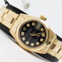Rolex Oyster Perpetual Lady Date Oro giallo 26mm Nero Senza numeri Italia, Aversa