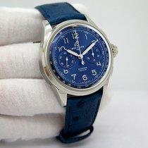 Breitling Duograph Staal 42mm Blauw Arabisch
