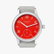 NOMOS Club Neomatik Steel 37mm Red Arabic numerals