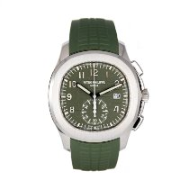 Patek Philippe White gold Automatic Green Arabic numerals 42.2mm pre-owned Aquanaut
