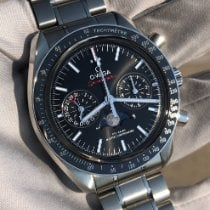 Omega Speedmaster Professional Moonwatch Moonphase pre-owned 44mm Black Moon phase Chronograph Date Steel