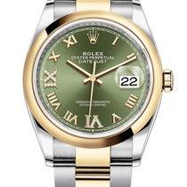 Rolex Datejust Gold/Steel 36mm Green Roman numerals United States of America, California, Los Angeles