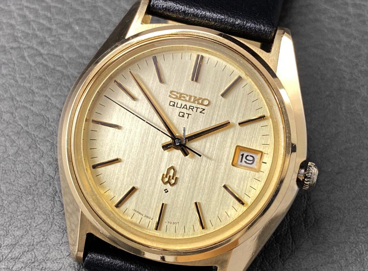 Seiko Seiko QT cap gold 3802-7031 | 1974 1974 pre-owned
