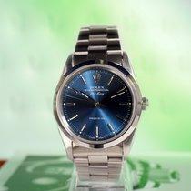 Rolex Air King Precision Steel 34mm Blue No numerals