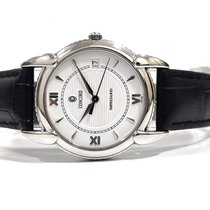 Concord Impresario pre-owned 34mm White Date Leather