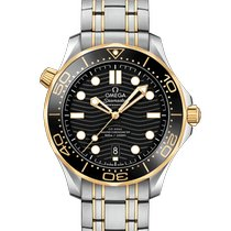 Omega Seamaster Diver 300 M Acero y oro 42mm Negro Sin cifras