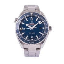 Omega Titanium Automatic Blue 45.5mm pre-owned Seamaster Planet Ocean