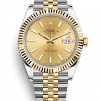 Rolex Datejust Zlato/Ocel 41mm Zlatá (masivní) Bez čísel