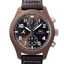 IWC 파일럿 크로노그래프 신규 2021 자동 크로노그래프 시계 및 정품 박스와 서류 원본 IW388004