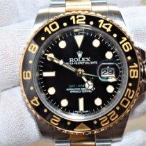 롤렉스 GMT-마스터 II 116713LN 매우 우수 금/스틸 40mm 자동