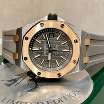 Audemars Piguet Tantalum Automatisch Grijs Geen cijfers 42mm nieuw Royal Oak Offshore Diver