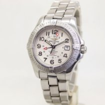 Breitling Colt GMT Steel 41mm Silver Arabic numerals