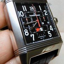 Jaeger-LeCoultre Titanium Automatic Black 42.5mm pre-owned Reverso Squadra World Chronograph