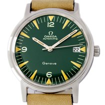 Omega Genève Steel 35mm Green Arabic numerals United States of America, Utah, Draper