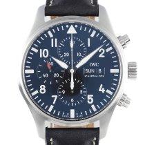 IWC Pilot Chronograph Otel 43mm Negru