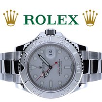 Rolex Steel Automatic Silver No numerals 40mm pre-owned Yacht-Master 40